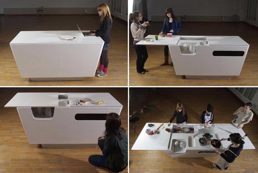 Dans la cuisine le blog de miss l 39 instant d 39 art for Ilot cuisine table extensible